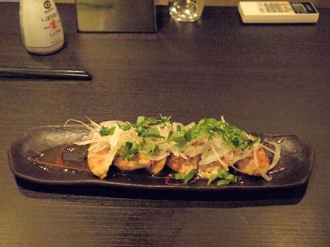 東京都新宿区中落合1丁目にある「博多料理 岳」鶏肉の柚子胡椒焼き