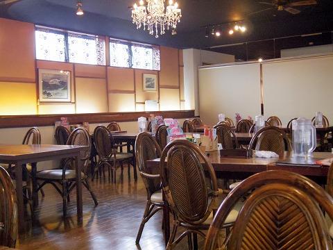 茨城県ひたちなか市枝川にある「シーフードレストラン メヒコ 水戸フラミンゴ館」店内