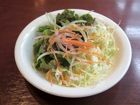 茨城県ひたちなか市枝川にある「シーフードレストラン メヒコ 水戸フラミンゴ館」Aセットのサラダ