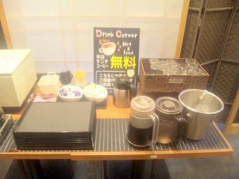 埼玉県入間市下藤沢にある寿司、創作料理の「一幸 入間店」セルフドリンクコーナー