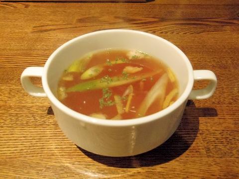 埼玉県越谷市千間台東1丁目にある鉄板ビストロの「la planche  ラ・プランシュ」ランチスープ