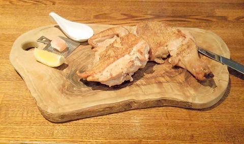埼玉県越谷市千間台東1丁目にある鉄板ビストロの「la planche  ラ・プランシュ」国産若鶏ハーフグリル
