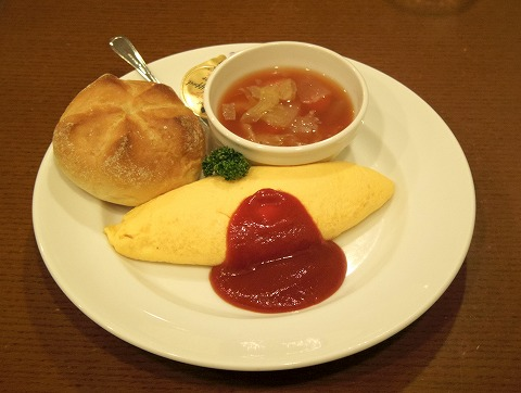 東京都台東区上野7丁目にある洋食店「洋食や 三代目 たいめいけん」たいめいけんの朝食セット