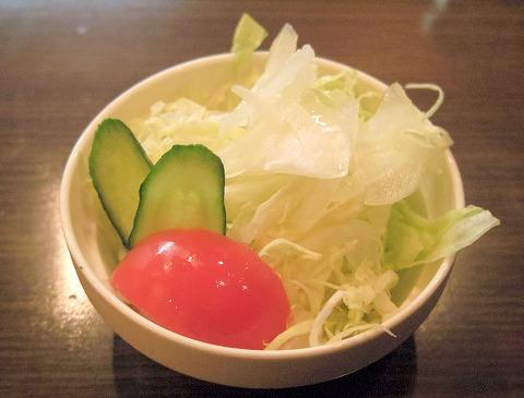 茨城県古河市東本町1丁目にあるステーキ、ハンバーグの「ステーキ食堂 富士」セットのサラダ
