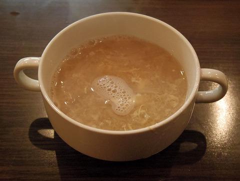 茨城県古河市東本町1丁目にあるステーキ、ハンバーグの「ステーキ食堂 富士」セットのスープ
