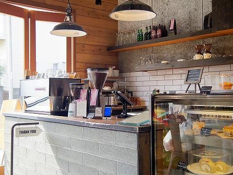 埼玉県さいたま市北区宮原町1丁目にあるカフェ「45CAFE」店内