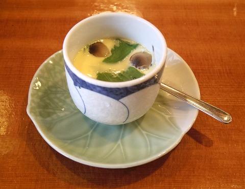埼玉県越谷市袋山にある寿司店「寿司作」上ランチの茶碗蒸し