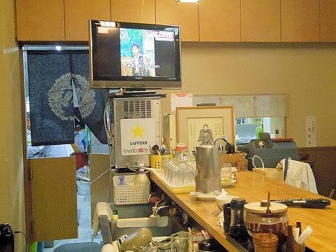 東京都練馬区田柄1丁目にあるとんかつ店「とんかつ割烹 よしだ」店内