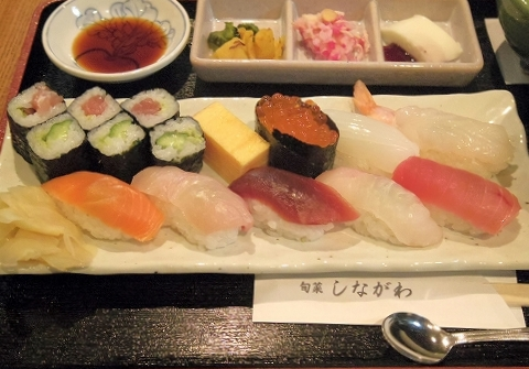 神奈川県川崎市川崎区東田町4丁目にある懐石、寿司のお店「旬菜しながわ」春菜御膳