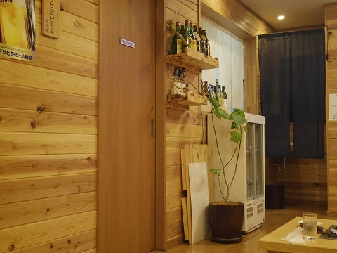 東京都練馬区谷原1丁目にあるお好み焼き、もんじゃの「お好み焼き ふふ」店内
