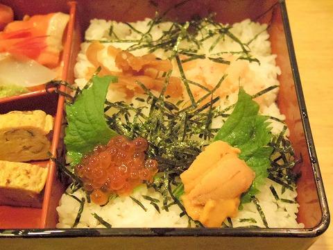 埼玉県春日部市備後6丁目にある鮨店「鮨勘」ちらしランチのちらし寿司の御飯