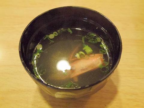 埼玉県春日部市備後6丁目にある鮨店「鮨勘」ちらしランチ味噌汁