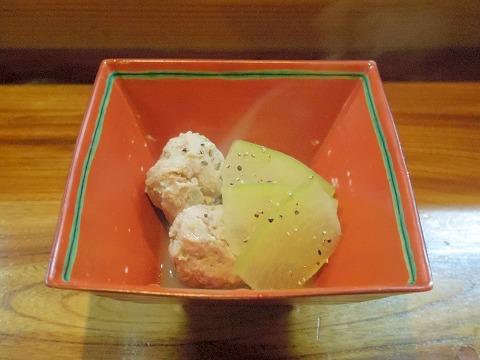 埼玉県越谷市谷中町1丁目にある和食、居酒屋の「米やじゅんの助二合」温物(鶏つくねの白湯煮)