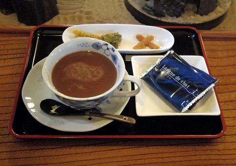 長野県上田市別所温泉にあるカフェ「二幸」カフェモカ
