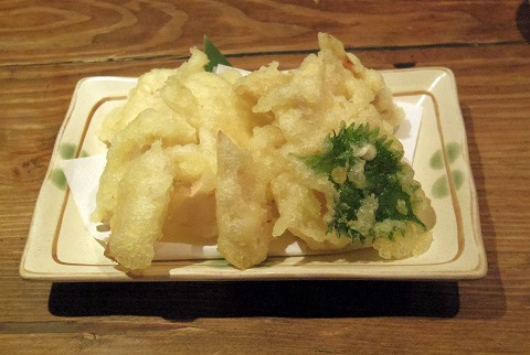 長野県長野市南長野にある焼鳥、居酒屋の「とりこまち」筍の天ぷら