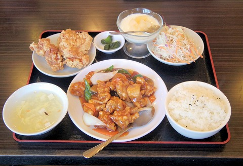 埼玉県狭山市大字北入曽にある「台湾料理 桜」酢豚定食