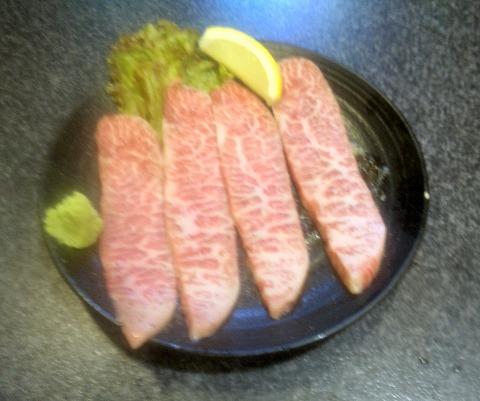 東京都練馬区春日町6丁目にある焼肉・ホルモンの「楽一」和牛みすじ