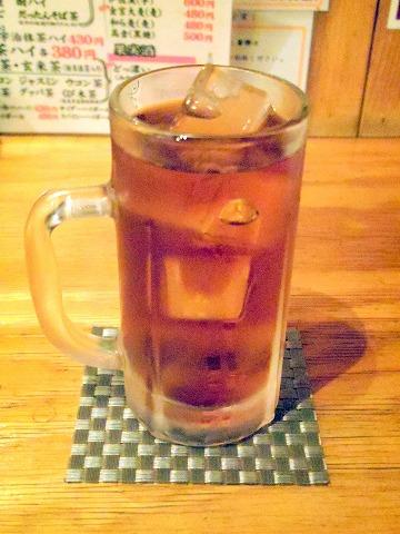 東京都板橋区成増2丁目にあるもつ料理、居酒屋の「串酒場タマリバ TAMARIBA」ウーロン茶