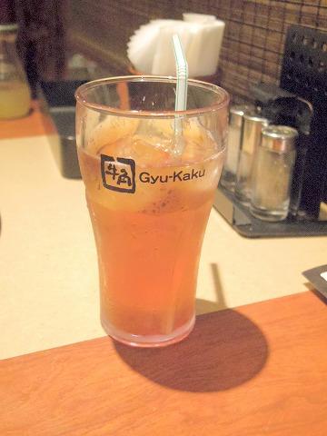 東京都板橋区成増2丁目にある焼肉店「牛角 成増店」ウーロン茶