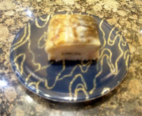 埼玉県所沢市大字上安松にある回転寿司のお店「がってん寿司 所沢上安松店」とろ鯖の炙り棒寿司