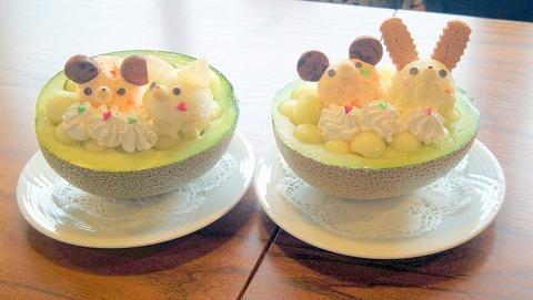 茨城県取手市清水にあるカフェ「カフェ サルデーレ」【メロン】の宝石箱