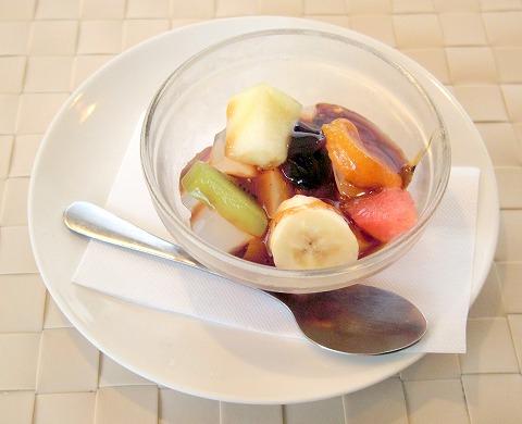 茨城県ひたちなか市大字高野にあるフレンチ、カフェの「RESTAURANT+CAFE Dahlia レストラン+カフェ ダリア」デザート(あんみつ)