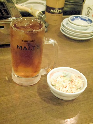 神奈川県川崎市中原区木月1丁目にある居酒屋、魚介・海鮮料理のお店「さかなの台所 オリエンタル 西口店」ウーロン茶とお通し