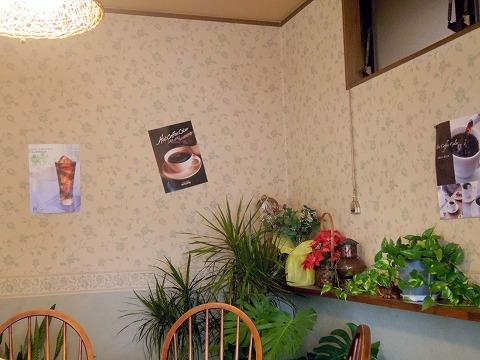 埼玉県春日部市栄町1丁目にある洋食店「とまと亭」店内