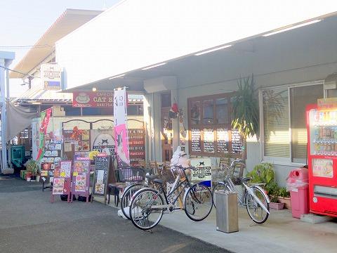 埼玉県春日部市小渕にあるカフェ「CAT BASE キャットベース」外観