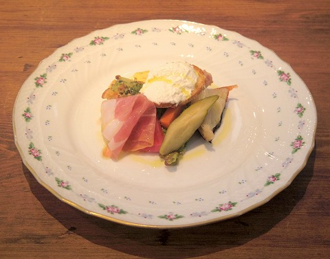 埼玉県越谷市流通団地にあるイタリアンの「オルタッジョ ORTAGGIO」前菜盛り合わせ