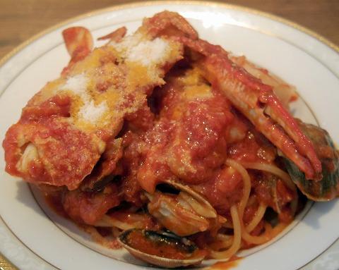 埼玉県越谷市流通団地にあるイタリアンの「オルタッジョ ORTAGGIO」魚介たっぷりトマトソース