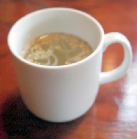 茨城県ひたちなか市部田野にある喫茶店「山茶郷」スープ