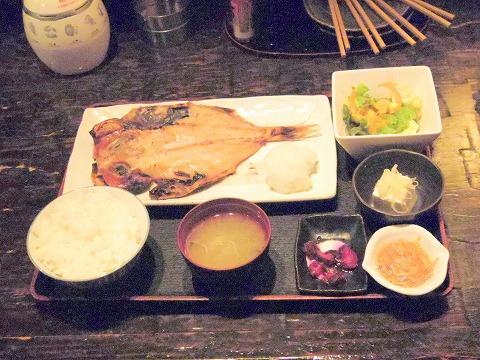 東京都大田区鵜の木2丁目にある居酒屋「鵜の木ひもの屋」金目鯛開き定食