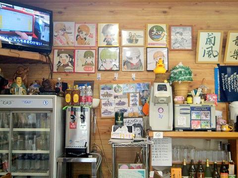 茨城県東茨城郡大洗町磯浜町にある食堂「せんな里食堂」店内