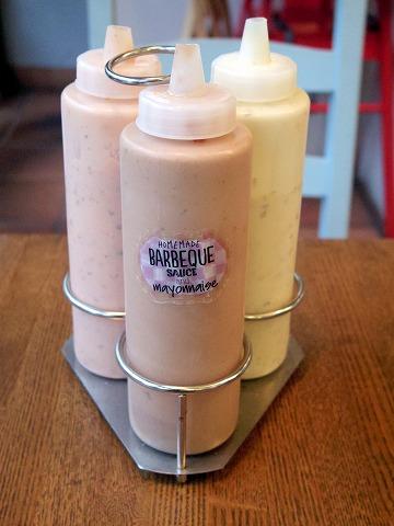 神奈川県横浜市中区本牧原にあるハンバーガー、カフェの「BURGER'S+CAFE  hasamu」自家製のハンバーガーソース3種類