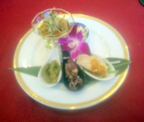 埼玉県越谷市大林にある中華料理店「Ishibashi Chinois&Bar」前菜盛り合わせ