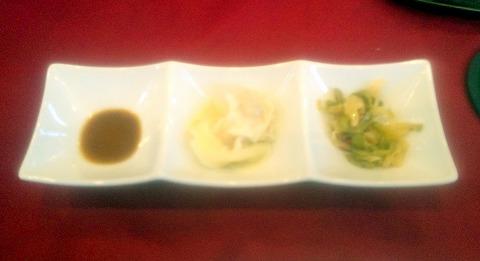 埼玉県越谷市大林にある中華料理店「Ishibashi Chinois&Bar」ランチの小菜