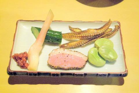神奈川県川崎市川崎区小川町にある「天ぷら 三惚」前菜