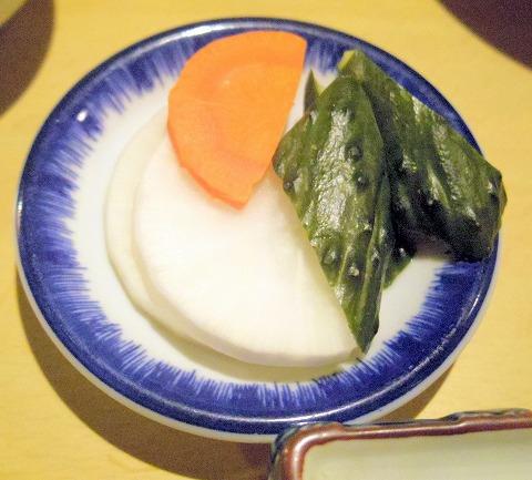 神奈川県川崎市川崎区小川町にある「天ぷら 三惚」お新香