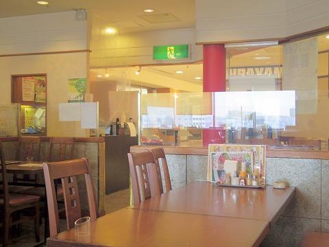 埼玉県草加市高砂2丁目にある中華料理店「China Fan チャイナファン」店内