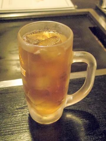 神奈川県横浜市中区本牧町にあるお好み焼き、もんじゃ焼き、たこ焼きの「さ介」ウーロン茶