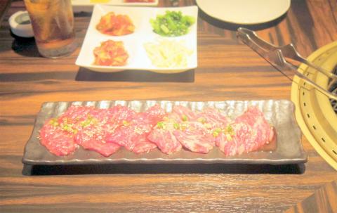 神奈川県横浜市中区羽衣町2丁目にある焼肉店 「大徳壽」焼肉盛合せ
