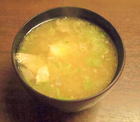 神奈川県横浜市中区本郷町1丁目にある寿司店「いなせ寿司 本牧店」ランチの味噌汁