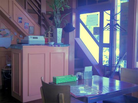 神奈川県横浜市中区本牧間門にあるカレー、インド料理のお店「ダルパン」店内