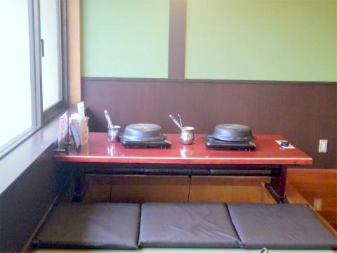 神奈川県横浜市磯子区中原1丁目にあるしゃぶしゃぶ食べ放題の「しゃぶ葉 磯子中原店」店内