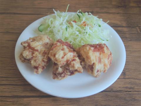 埼玉県春日部市一ノ割1丁目にある定食、食堂、居酒屋の「時々」鶏の唐揚げ