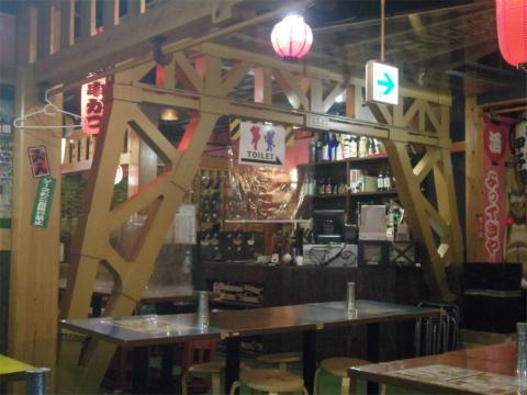 神奈川県横浜市西区南幸1丁目にある串揚げの「串カツ甲子園 横浜きた西口店」店内