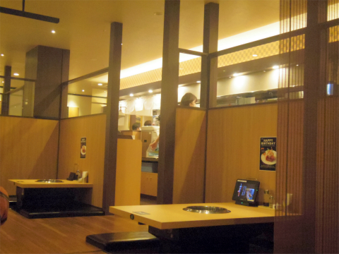 東京都練馬区光が丘5丁目にある「焼肉やまと 光が丘店」店内