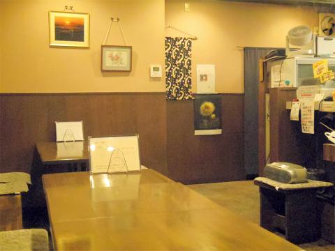 神奈川県川崎市中原区木月1丁目にある割烹、小料理の「和食 蓬や」店内
