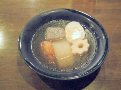 神奈川県川崎市中原区木月1丁目にある割烹、小料理の「和食 蓬や」お通しのおでん